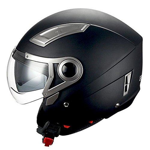 1STORM MOTORCYCLE OPEN FACE HELMET SCOOTER...