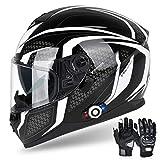 Bluetooth Motorcycle Helmet FreedConn DOT...