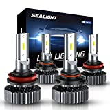 SEALIGHT 9005/HB3 H8/H11 LED Headlight Bulbs...