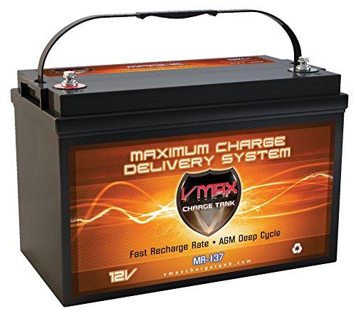 VMAX MR137-120 AGM Sealed Marine AGM Battery...