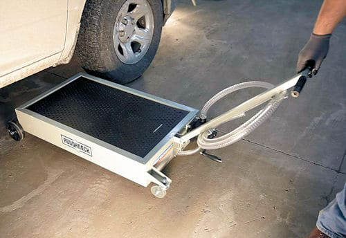 waste oil pan with drain pump reviews