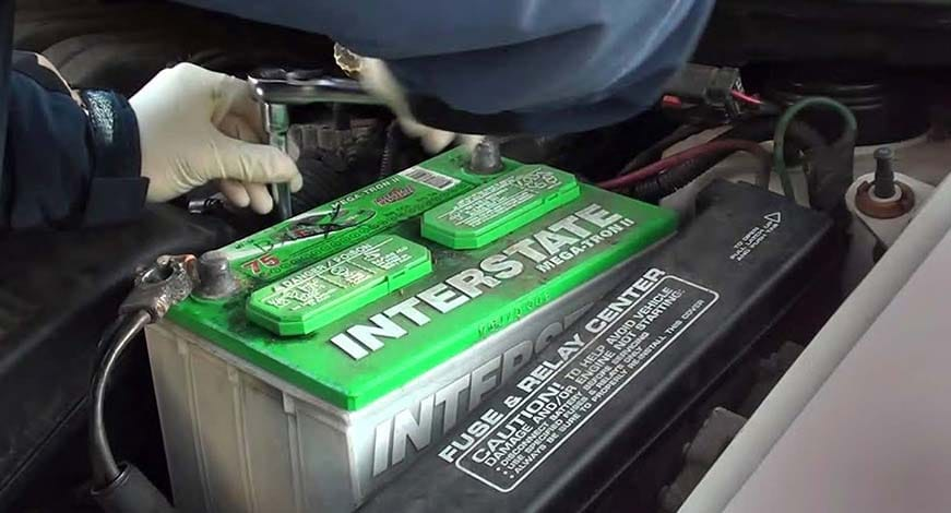 Car Battery Leaking From Top