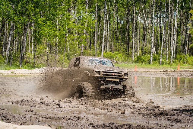 Truck Driving In Mud