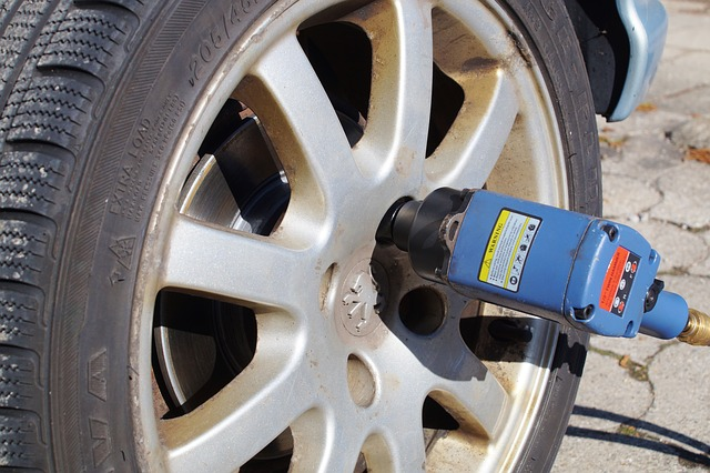 Impact Wrench With Tire
