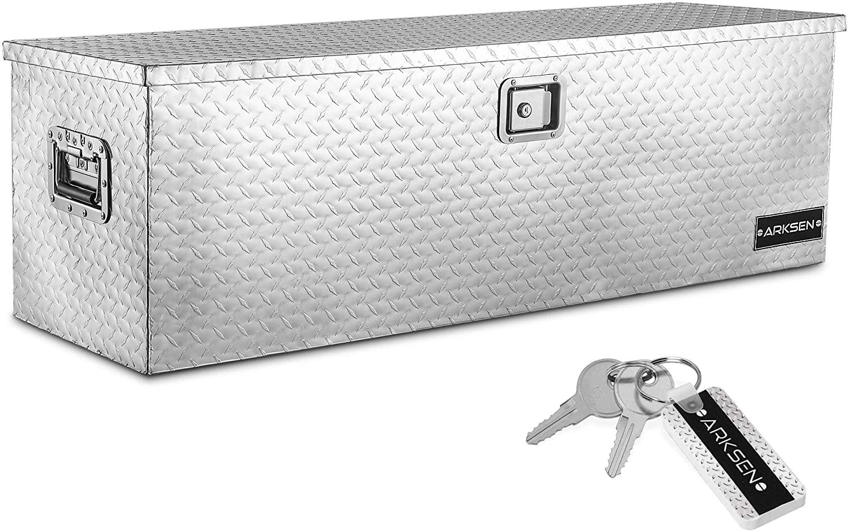 silver truck tool box