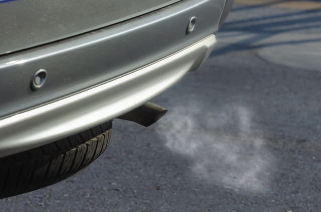 silver car exhaust