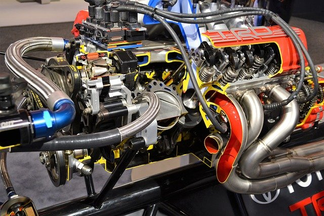 engine with headers