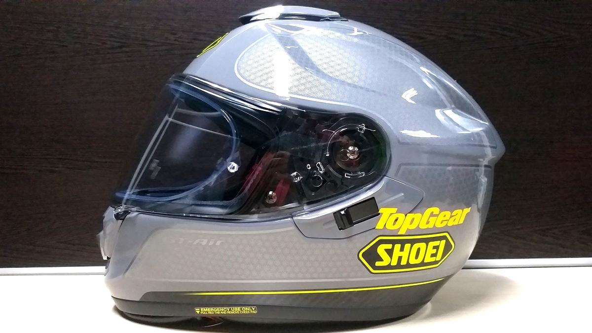 silver top gear shoei motorcycle